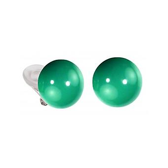 Traveller Oorclips - Dames - 16mm Jade  - Zilverkleurig - 112320 - 364