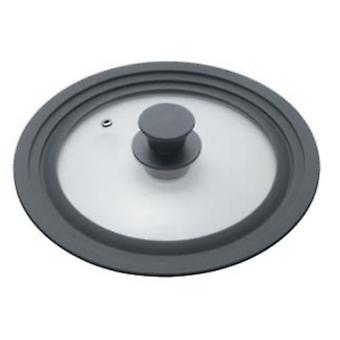 tile lid Universal 20-24 cm glass/silicone