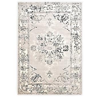 vidaXL Carpet Grey and Black 160 x 230 cm PP