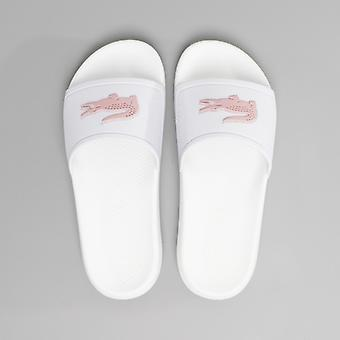 Lacoste Croco Slide 119 3 Damen Slider weiß/rosa