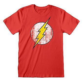 The Flash Mens Distressed Logo T-Shirt
