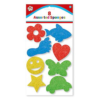 Kids Create Pack 8 Childrens Assorted Paint Sponges Arts and Crafts Age 3+