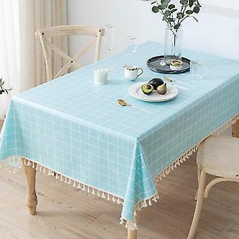 מפת פשתן כותנה עמידה למים ועמידה בפני שמן ועמידה בחום כרית שולחן מלבנית