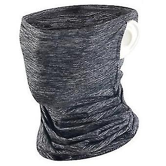 2Pcs gris écran solaire d'été glace sérigraphie masque d'équitation, demi-visage anti-uv couverture d'oreille suspendue pour la pêche randonnée az13869