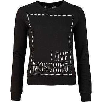 אהבה Moschino לב גדול לוגו זיעה