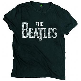 Die Beatles Vintage Drop T Logo Herren Blk T Shirt: XXL