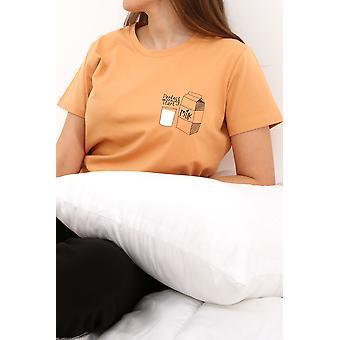Printed Short Sleeve Pajamas