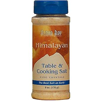 Aloha Bay Himalayan Crystal Table and Cooking Salt In Fine Dispenser, 6 oz