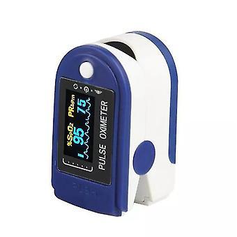 Medical Fingertip Pulse Oximeter, Oled Display, Blood Oxygen Sensor(Blue)