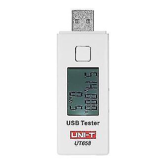 UNI-T UT658 Digitálny LCD USB merač napätia U Disk Voltmeter Tester nabíjacej kapacity