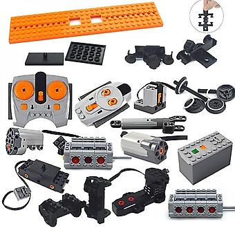 Technical Parts Motor Multi Power Functions 8293 8883 Tool Servo Train Model Sets Building Blocks Compatible All Brands