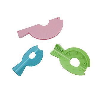 3 Reusable Plastic Pom Pom Maker Set - 5cm, 7cm & 9.5cm