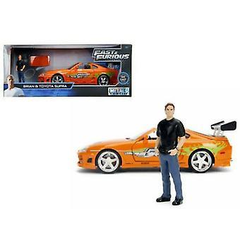 Fast and Furious Brians Toyota Supra med Brian Figur 30738 1:24 Skala