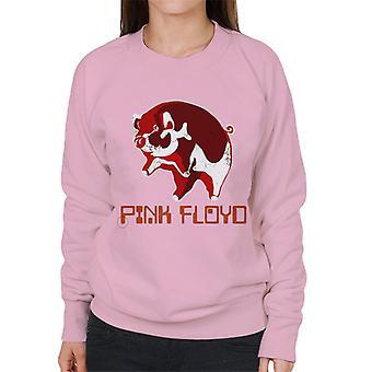 Vaaleanpunainen Floyd Ethic Pig Naisten collegepaita