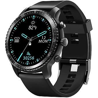 Smart Watch til Android / iOS-telefoner, support trådløs opladning, Bluetooth Health Tracker med pulsmåler, digitalt smartur til kvinder mænd, 5ATM vandtæt (sort)