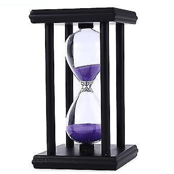 Stylish Ornament 30 Minute Sand Hourglass Countdown Timing Modern Wooden Sandglass Sand Clock Timer
