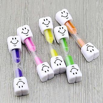 7pcs Dental Kids Toothbrush Timer 3-minutes Smile Sandglass Hourglass Sand