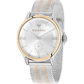 マセラティ R8853118005 メンズ エポカ ツー トーン メッシュ腕時計