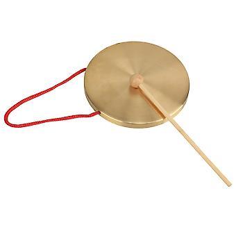 Gongs الطفل اللعب طرق الدعائم gonfalons 15.5cm قطرها غونغ يد نحاسية صغيرة