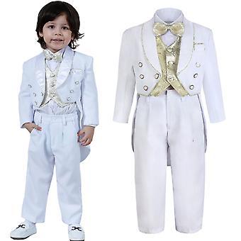 طفل البدلة الرسمية الكلاسيكية الرضع المعمودية دعوى الزفاف