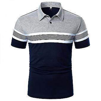 Men's Casual Short Sleeve Polo Shirts Slim Fit Tops Blouse Pullover T-shirts Tee