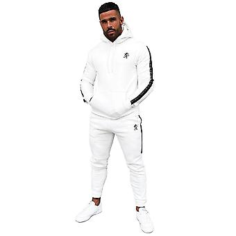 Gym King Results Jacquard Tape Pullover Hood Tracksuit Set - Cream