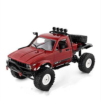 Toy cars 1:16 wpl c14 rc truck 2ch 4wd scale 2.4G road climbing car kids christmas gifts toy model toys|rc trucks red