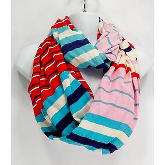 リズ クレイボーン ニューヨーク マルチストライプ インフィニティ ブルー/ ピンク / レッド スカーフ
