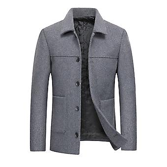 Homemiyn الرجال الصلبة لون معطف عارضة معطف الخريف / الشتاء سترة