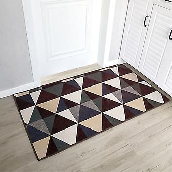 Fußmatten Barrierematten Teppiche innen und außen Die Eingangstür, saugfähige rutschfeste Matten, Geeignet für Flure, Küchen, Schlafzimmer (braun, 50 * 80