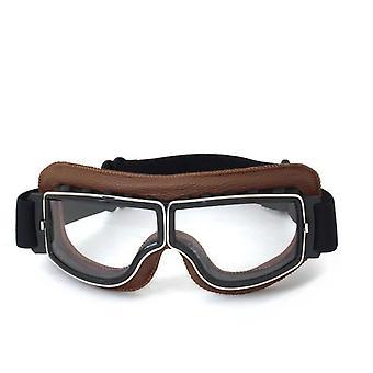 Gafas retro Gafas de cuero para motocicleta 3