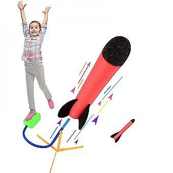 venalisa leketøy rakettkaster med 2 skum rakett, morsom utendørs leketøy for barn