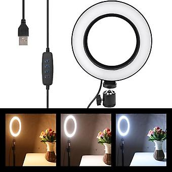 6inch Usb Led Video Light Dimmable Ring Lamp For Photography Selfie Live Studio