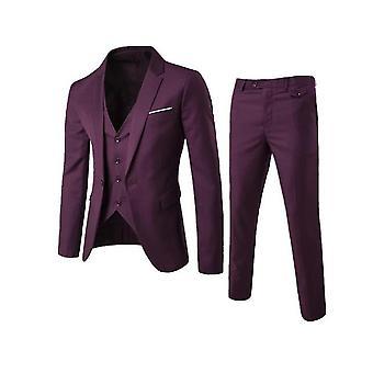Homme's 3 Pièces Slim Fit Suit