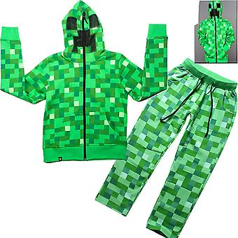 2 Piece Athletic Tricot Tracksuit Set With Zip Up Jacket And Jog Pants