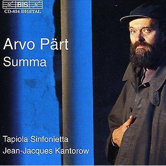 A. partie - P Rt: Summa [CD] USA import