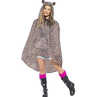 Leopard Kostým strana Poncho Leopard Leo Poncho dážď bunda festival kostým