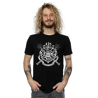 Harry Potter Herren Hogwarts Abzeichen Zauberstäbe T-Shirt