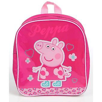 Escuela mini mochila Peppa Pig flores y corazones