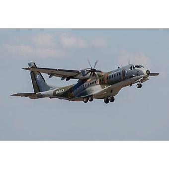 A Czech Air Force C-295M transport aircraft in flight Poster Print by Timm ZiegenthalerStocktrek Images