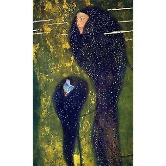 Mermaids 1899 Poster Print by Gustav Klimt