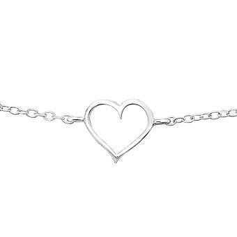 Heart  - 925 Sterling Silver Chain Bracelets - W20369X