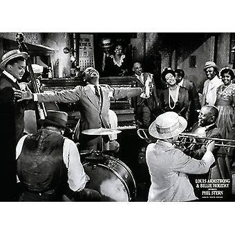 Louis Armstrong und Billie Holiday Poster Print von Phil Stern (28 x 20)