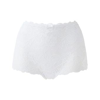 Gossard 11114 Women's Gypsy White Lace Knicker Shorties Highwaist Short Boyshort
