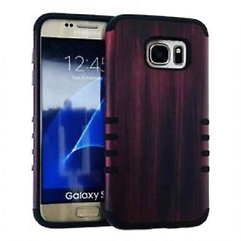 Rocker série mince affaire protecteur pour Samsung Galaxy S7 (Design en bois)