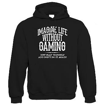 Life Without Gaming Mens Funny Hoodie