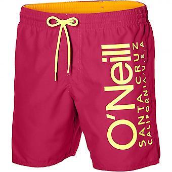 O'Neill Californië Retro Logo zwemmen Shorts, watermeloen