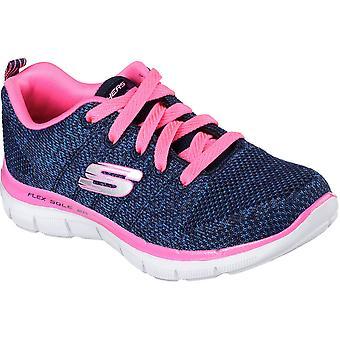 سكيتشرز الفتيات الاستئناف Skech 2.0 عالية الطاقة النسيج الرياضي المدربين