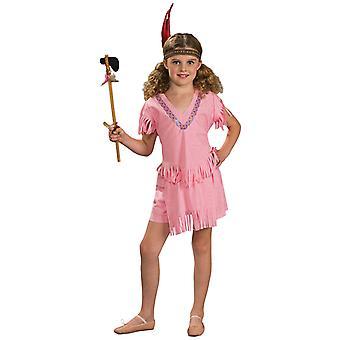 Indian Pink Native American Pocahontas Western Dress Up Girls Costume
