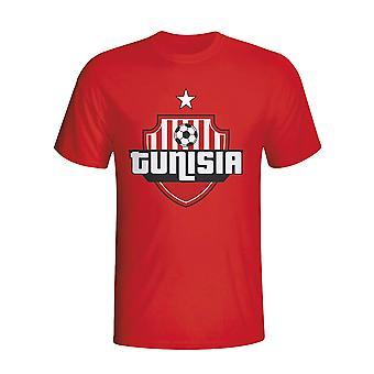 Tunisia Country Logo T-shirt (red) - Kids